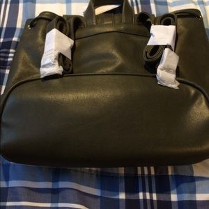 Brand new brownish olive  tote/bag with lots of